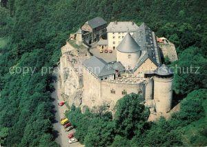 AK / Ansichtskarte Waldeck Edersee Burghotel Schloss Waldeck Fliegeraufnahme