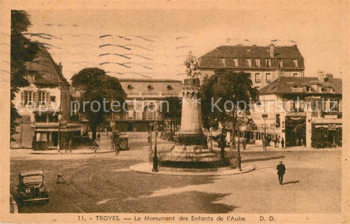 AK / Ansichtskarte Troyes Aube Monument des Enfants de l Aube Kat. Troyes