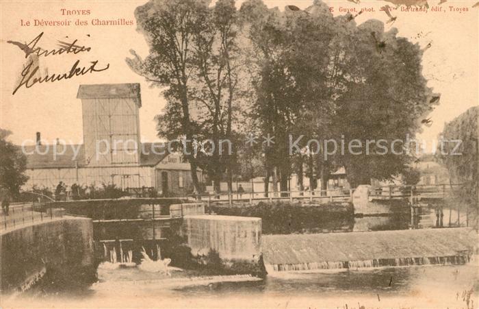 AK / Ansichtskarte Troyes Aube Le Deversoir des Charmilles Kat. Troyes
