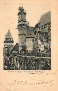 AK / Ansichtskarte Troyes Aube Clocher et Beffroi de l Eglise Saint Jean Kat. Troyes