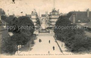 AK / Ansichtskarte Troyes Aube Avenue de la Gare et l Entree de la Rue Thiers vue prise du haut de la Nouvelle Gare Kat. Troyes