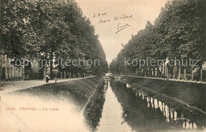 AK / Ansichtskarte Troyes Aube Le Canal Kat. Troyes