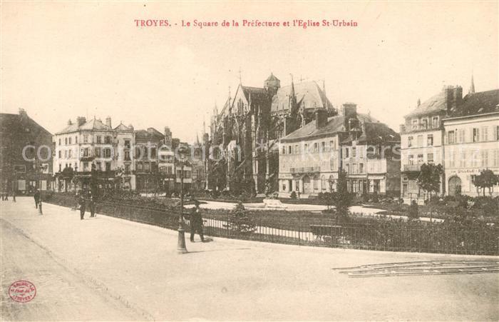 AK / Ansichtskarte Troyes Aube Le Square de la Prefecture Eglise Saint Urbain Kat. Troyes