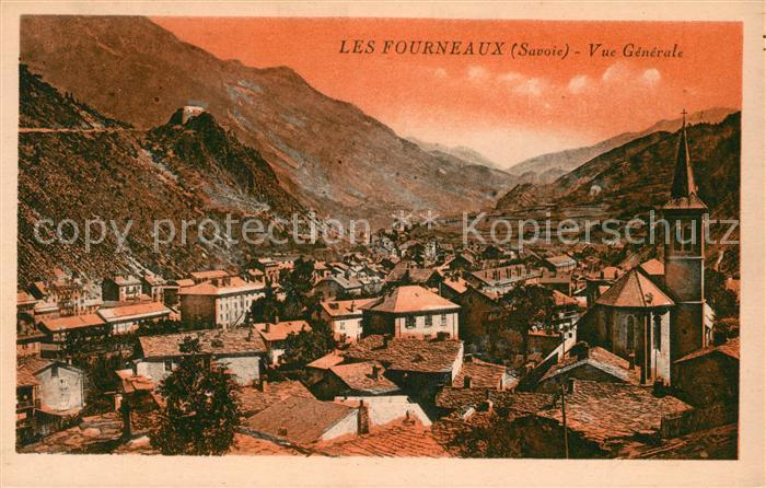 AK / Ansichtskarte Fourneaux Savoie Vue generale Eglise Montagnes Kat. Fourneaux