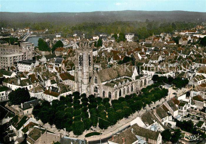 AK / Ansichtskarte Nogent sur Seine Fliegeraufnahme Eglise Saint Laurent Kat. Nogent sur Seine