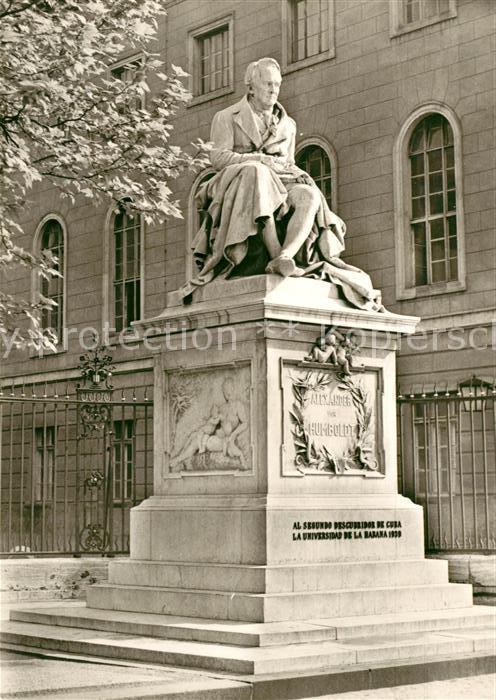 AK / Ansichtskarte Berlin Denkmal Alexander von Humboldt Uni Kat. Berlin