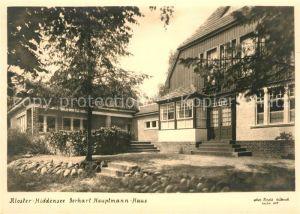 AK / Ansichtskarte Kloster Hiddensee Gerhart Hauptmann Haus Kat. Insel Hiddensee