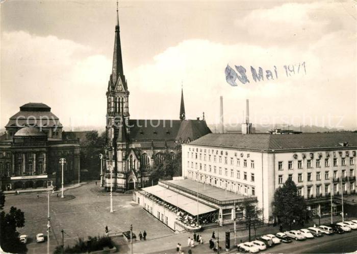 AK / Ansichtskarte Karl Marx Stadt HO Hotel Gaststaette Chemnitzer Hof Haus der Interhotel Kat. Chemnitz