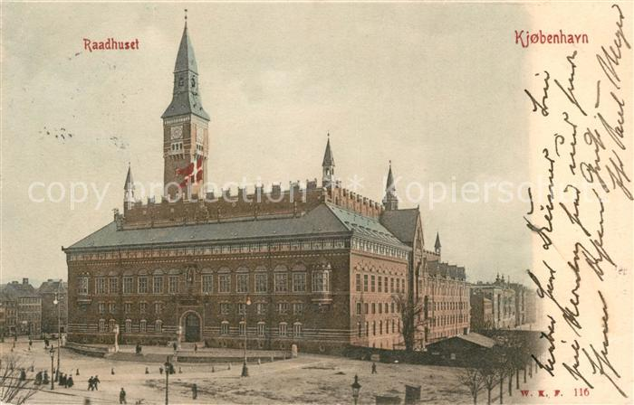 AK / Ansichtskarte Kjobenhavn Raadhuset Rathaus Kat. Kopenhagen Daenemark