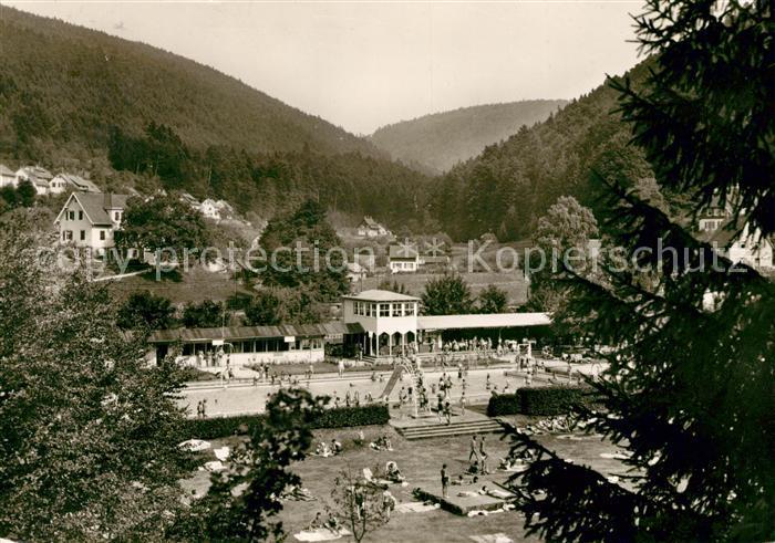AK / Ansichtskarte Calmbach Enz Schwimmbad Kat. Bad Wildbad