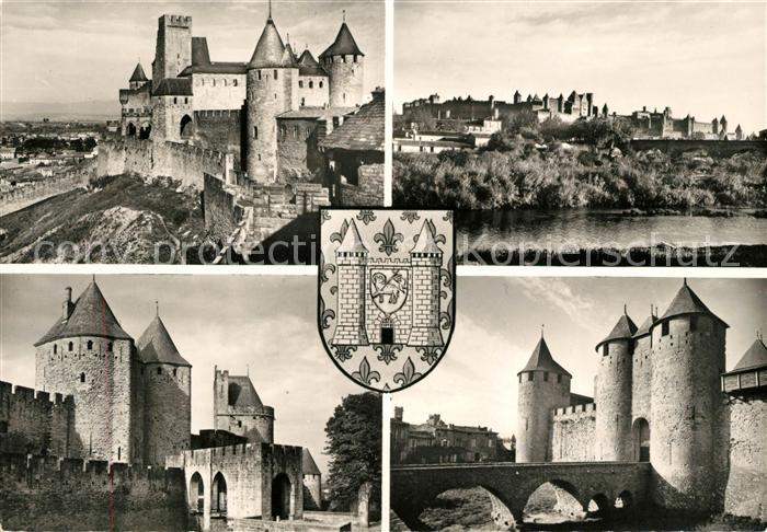 AK / Ansichtskarte Carcassonne Schloss Panorama Kat. Carcassonne