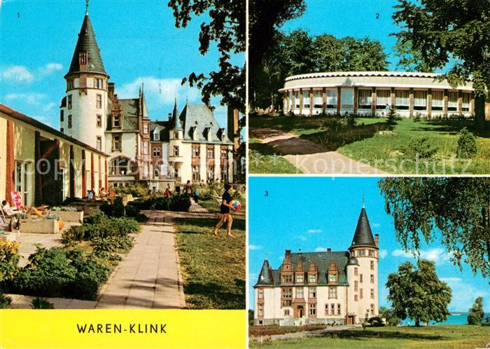AK / Ansichtskarte Klink Waren Schloss Rundgaststaette an der Mueritz Schloss Kat. Klink Waren