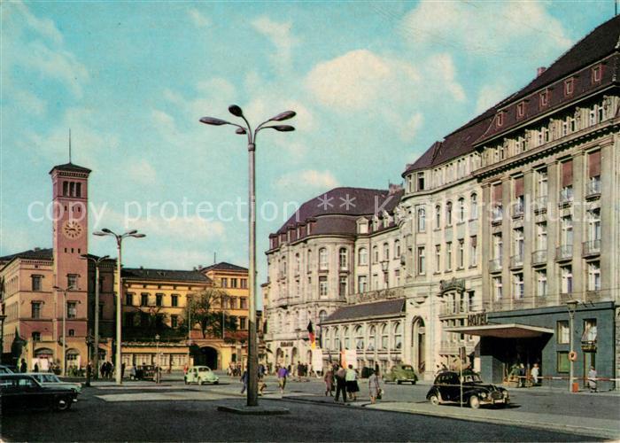 AK / Ansichtskarte Erfurt Bahnhofsplatz mit HO Hotel Erfurter Hof Kat. Erfurt