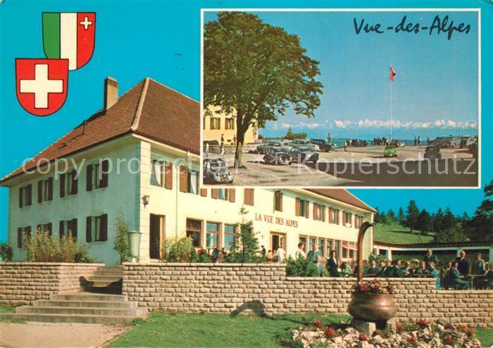 AK / Ansichtskarte Vue des Alpes Hotel La Vue des Alpes Kat. Vue des Alpes