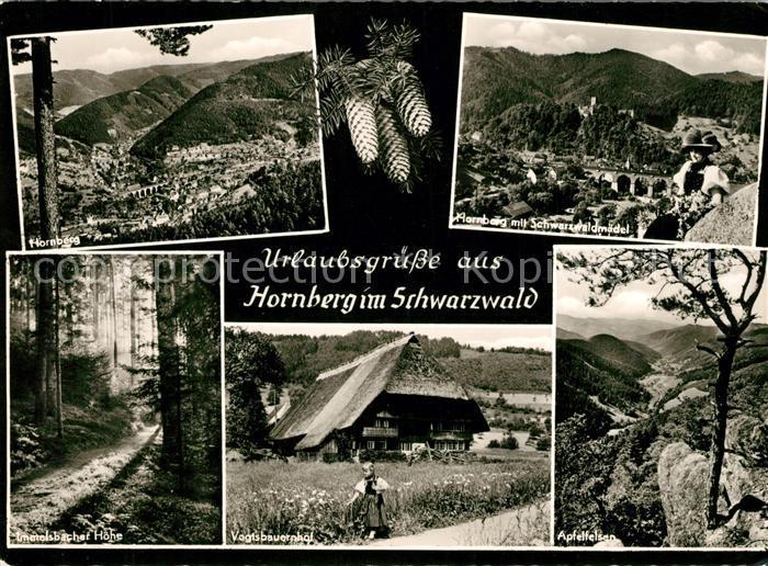 AK / Ansichtskarte Hornberg Schwarzwald Hornberg Schwarzwaldmdel Vogtsbauernhof Apfelfelsen  Kat. Hornberg
