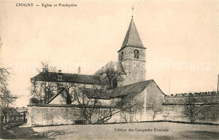 AK / Ansichtskarte Saint Etienne de Chigny Eglise et Presbytere Kat. Saint Etienne de Chigny