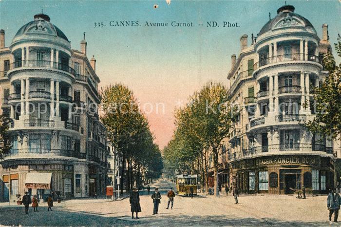 AK / Ansichtskarte Cannes Alpes Maritimes Avenue Carnot Kat. Cannes