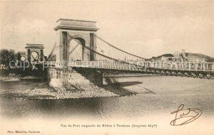 AK / Ansichtskarte Tarascon Bouches du Rhone Vue du Pont du Rhone