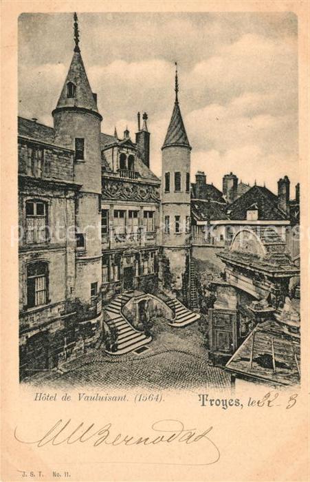 AK / Ansichtskarte Troyes Aube Hotel de Vauluisant Kat. Troyes