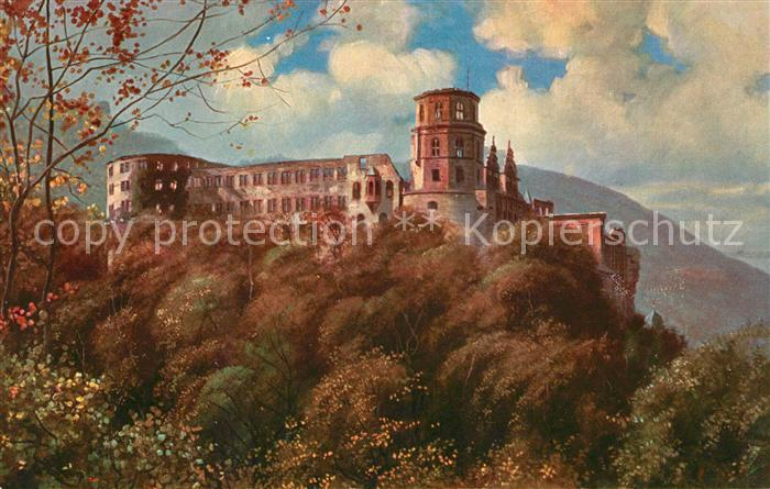 AK / Ansichtskarte Hoffmann Heinrich Heidelberg Schloss  Kat. Kuenstlerkarte