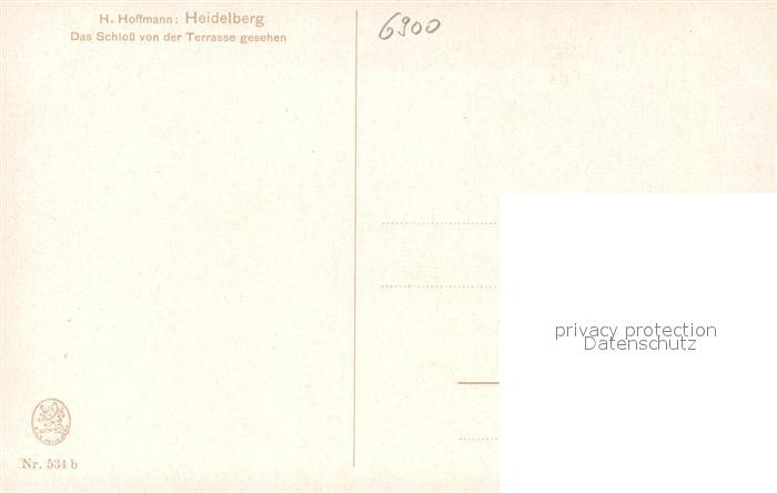 AK / Ansichtskarte Hoffmann Heinrich Heidelberg Schloss  Kat. Kuenstlerkarte 1