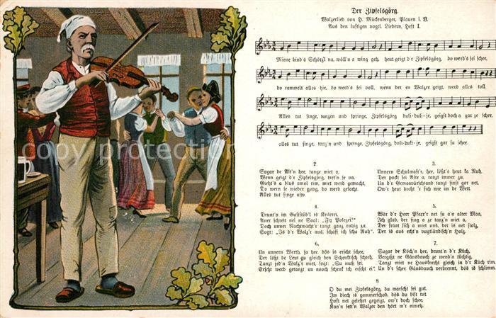 AK / Ansichtskarte Liederkarte Der Zipfelsgoerg  Kat. Musik 0