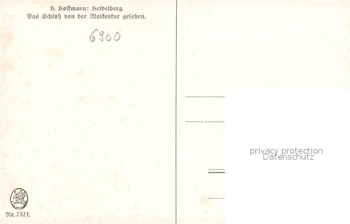 AK / Ansichtskarte Hoffmann Heinrich Heidelberg Schloss von der Molkenkur  Kat. Kuenstlerkarte 1