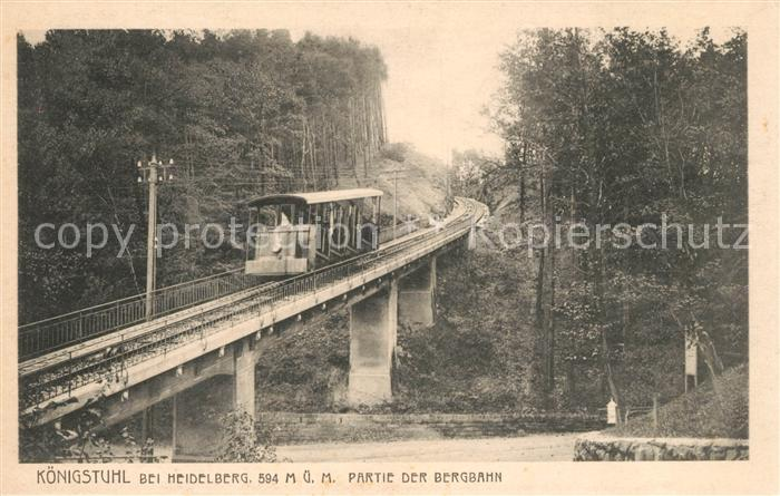 AK / Ansichtskarte Bergbahn Heidelberg Kat. Bergbahn 0
