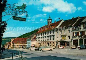 AK / Ansichtskarte Triberg Schwarzwald Marktplatz Rathaus  Kat. Triberg im Schwarzwald