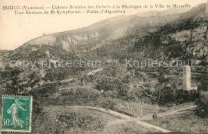 AK / Ansichtskarte Buoux Colonie Scolaire des Enfants Tour Romane de St Symphorien Vallee d Aiguebrun Kat. Buoux