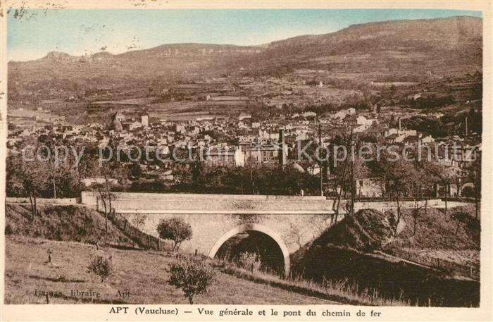 AK / Ansichtskarte Apt Vue generale et le pont du chemin de fer Kat. Apt