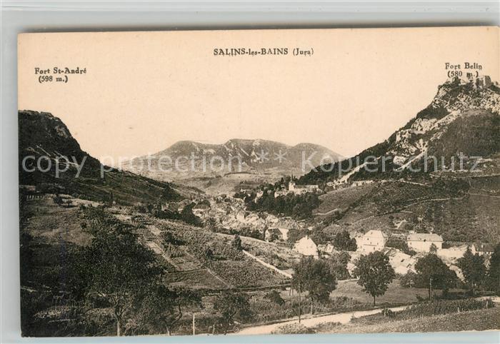 AK / Ansichtskarte Salins les Bains Panorama Fort St Andre Fort Belin Kat. Salins les Bains