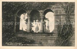 AK / Ansichtskarte Bad Gelnhausen Barbarossa Burg mit Marienkirche Kat. Gelnhausen