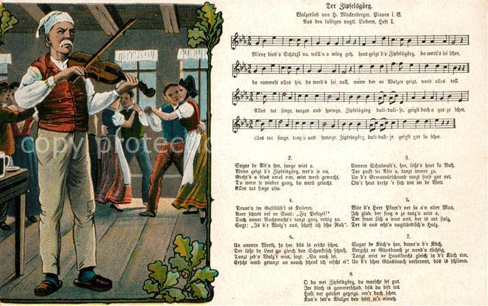 AK / Ansichtskarte Liederkarte Der Zipfelsgoerg  Kat. Musik