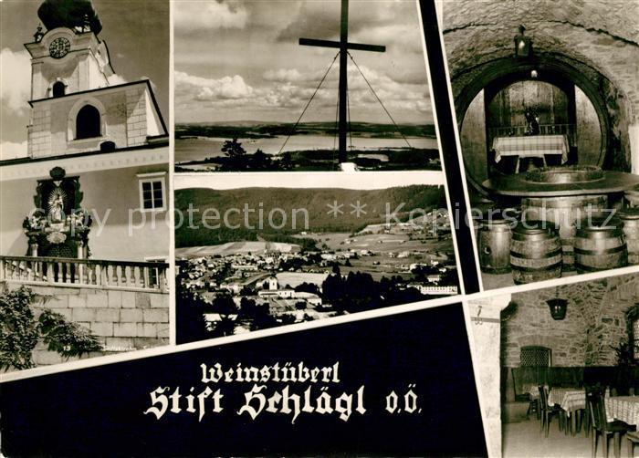 AK / Ansichtskarte Schlaegl Stift Kirche Panorama Kat. Schlaegl
