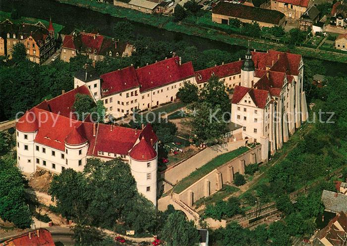 AK / Ansichtskarte Nossen Schloss Nossen Fliegeraufnahme Kat. Nossen