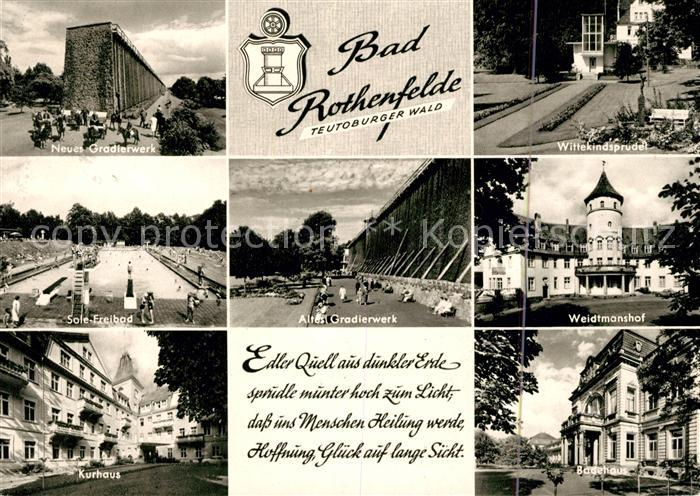 AK / Ansichtskarte Bad Rothenfelde Neues Gradierwerk Wittekindsprudel Sole Freibad Weidtmannshof  Kat. Bad Rothenfelde