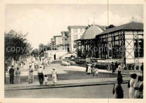 AK / Ansichtskarte Zinnowitz Ostseebad Kurpromenade Lesehalle