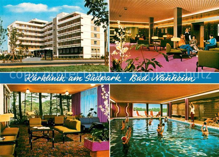 Bad Nauheim Klinik am Suedpark Halle Restaurant Hallenbad