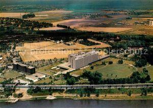 AK / Ansichtskarte Porz Koeln Krankenhaus Stadt Porz am Rhein Fliegeraufnahme Kat. Koeln