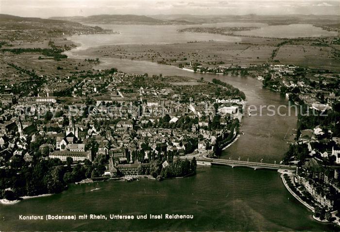 AK / Ansichtskarte Konstanz Bodensee Fliegeraufnahme Untersee Insel Reichenau Kat. Konstanz
