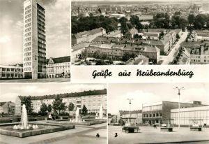 AK / Ansichtskarte Neubrandenburg Panorama Hochhaus Karl Marx Platz Kat. Neubrandenburg