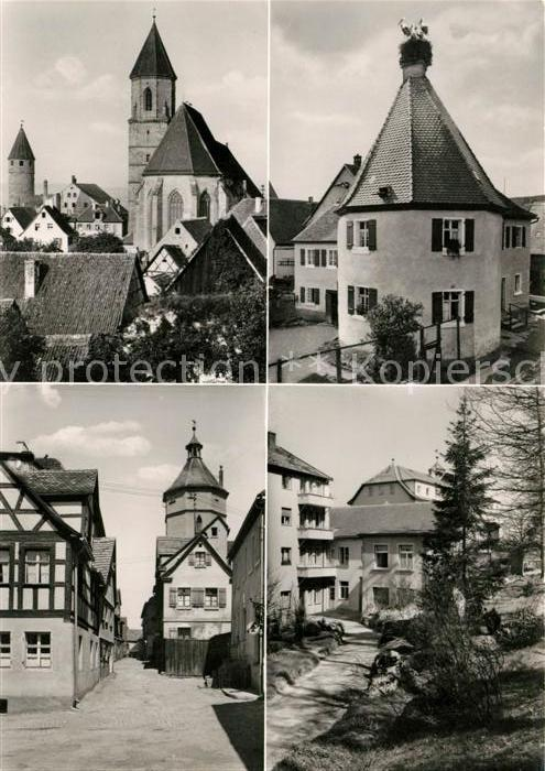 AK / Ansichtskarte Gunzenhausen Altmuehlsee Kirche Faerberturm Storchennest Kat. Gunzenhausen