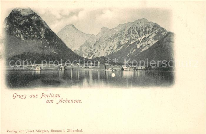 AK / Ansichtskarte Pertisau Achensee Blick ueber den See zu den Alpen Kat. Eben am Achensee