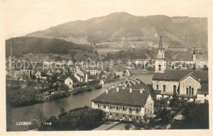 AK / Ansichtskarte Leoben Stadtpanorama mit Kirche an der Mur Blick vom Massenberg Kat. Leoben