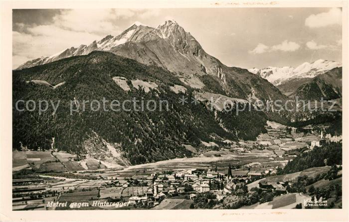 AK / Ansichtskarte Matrei Osttirol Panorama gegen Hinteregger Alpenpanorama Kat. Matrei in Osttirol