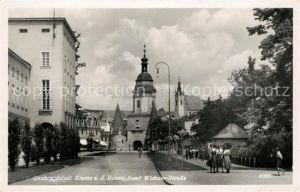 AK / Ansichtskarte Krems Donau Josef Wichner Strasse Kirche Kat. Krems an der Donau