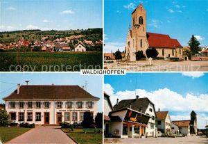 AK / Ansichtskarte Waldighoffen Eglise Mairie  Kat. Waldighofen