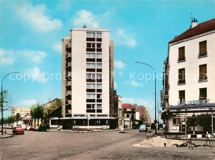 AK / Ansichtskarte Aubervilliers Carrefour de la Mairie Kat. Aubervilliers