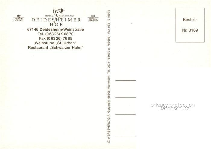 AK / Ansichtskarte Deidesheim Deidesheimer Hof Kat. Deidesheim 1